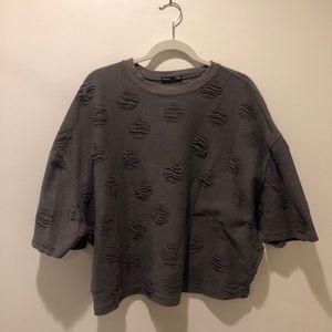 Zara Distressed Sweatshirt